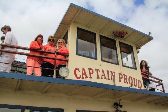 Captain Proud Paddle Boat Cruises: Enjoying drinks on the upper deck.