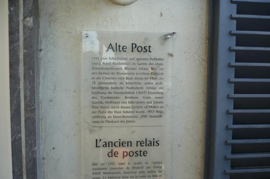 Alte Post: le passé glorieux de l'hôtel