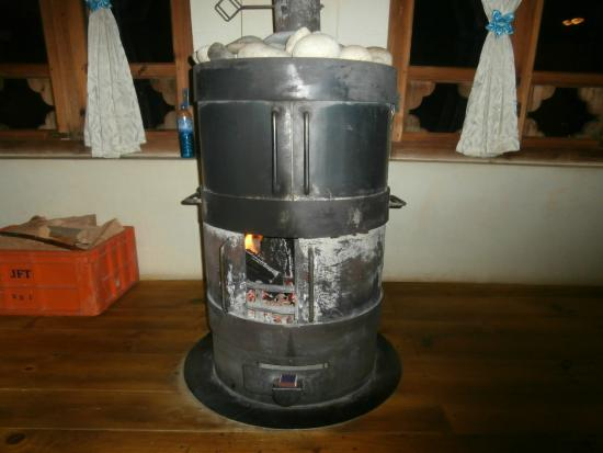 River Lodge: this barrel wood burning oven provides great heat in the dining room