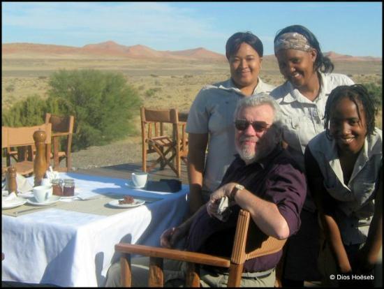 Wilderness Safaris Kulala Desert Lodge: Dining in the desert at Kulala Desert Lodge