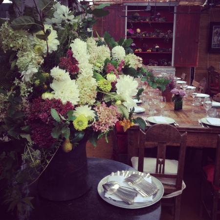 Petersham Nurseries Cafè: Our table