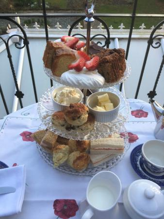Chimneys B & B: Afternoon Tea on our South Facing Balcony