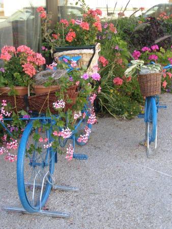 Hostellerie du Mont-Aime : Fleurs Jardin