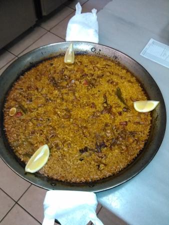 Pedreguer, Espagne : arroz con calamar