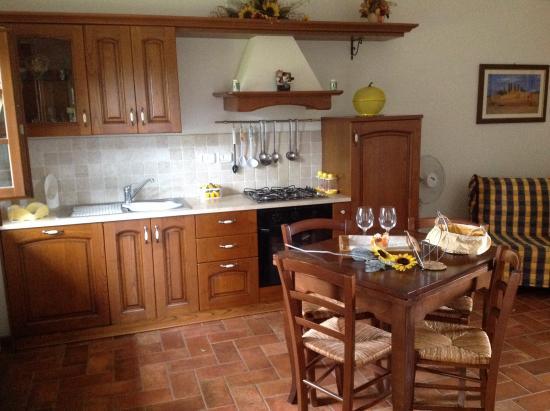 Cucina con soggiorno - Foto di Agriturismo il Poggio di ...