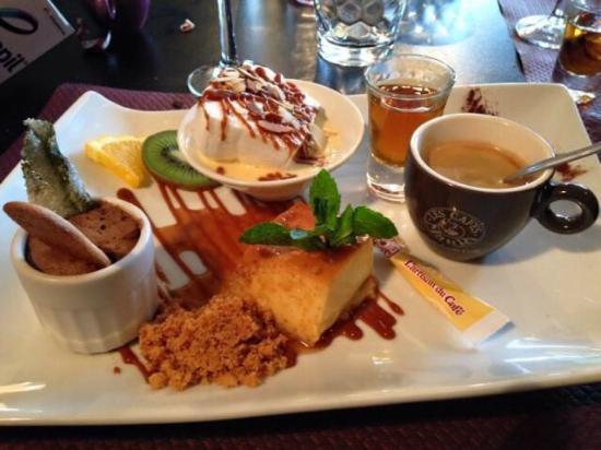 Le jardin du bourg : Cafe gourmand