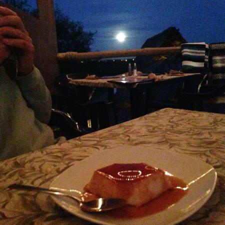 Moonrise over flan from the Sabor deck