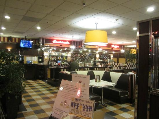 Table Talk Diner: View across the dining room to the bar