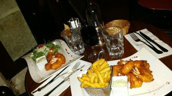 Le Trait d'Union: Our favorite meal, the prawns!