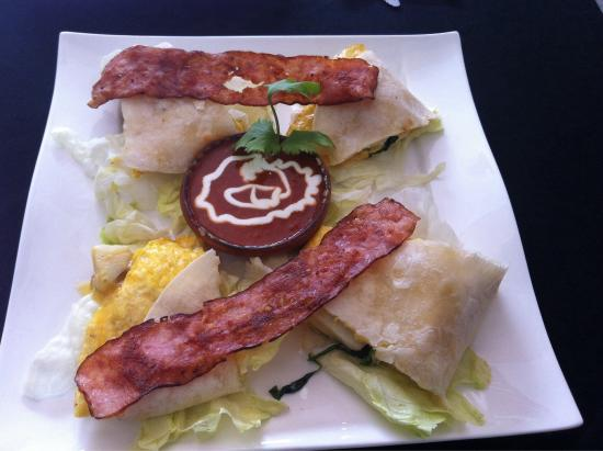 Aluxes Coffee House: Breakfast quesadilla!! Super awesome!
