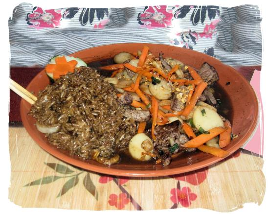 Thai Pan Alley: Kiss Me Beef with fried rice up-charge