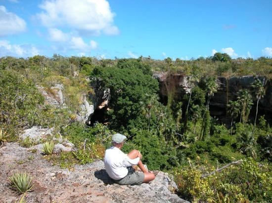 Barbuda: This is the Derby Cave sink hole