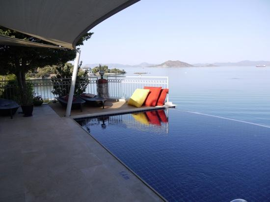 Ece Boutique Hotel: pool and view