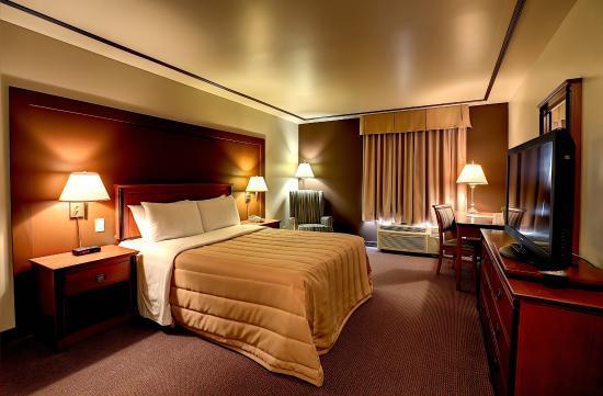 Hotel Motel Bonaparte: Chambre un lit Queen