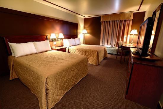 Hotel Motel Bonaparte: Chambre deux lits Doubles