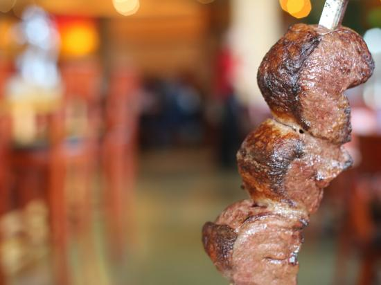 Tucanos Brazilian Grill: Tucanos' signature parade of meats features 15 meats, served table side. The Picanha is a fan fa