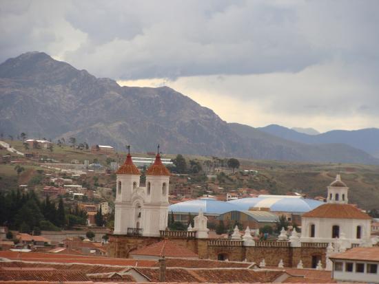 Hostal Patrimonio - Sucre: Vista desde la terraza