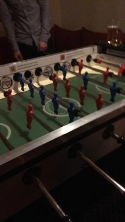 Naughty Squirrel Backpackers: Table football!