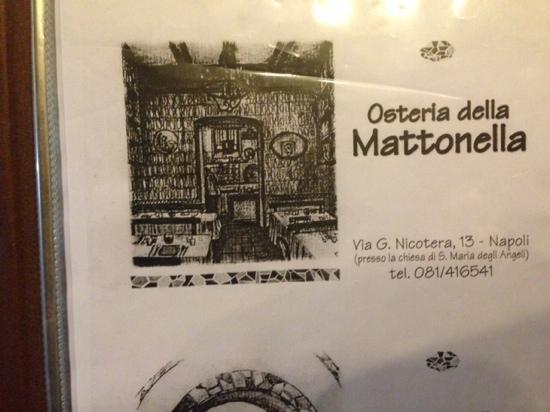 il menu\' - Picture of Osteria della Mattonella, Naples ...