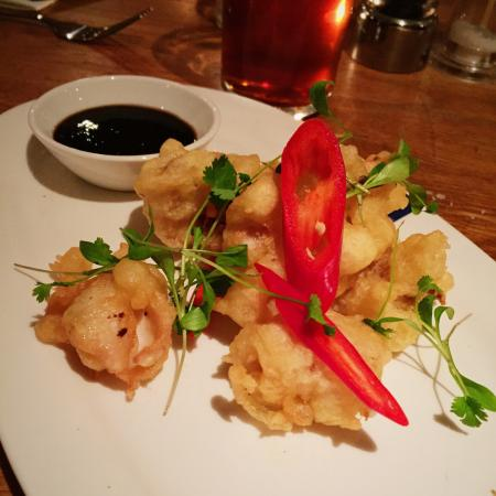 Tempura Battered Squid With Chili Jam Really Nice Consistency And Texture On The Tempura Picture Of Loch Fyne Seafood Grill Wokingham Tripadvisor