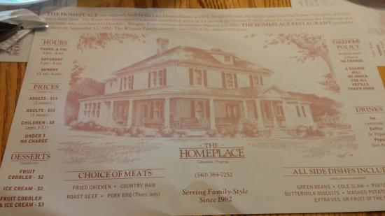Home Place Restaurant