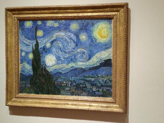 Notte stellata van gogh foto di the museum of modern for Van gogh notte