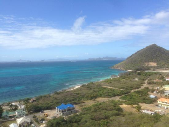 Charlestown, Canouan: The view from above Charlstown