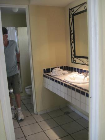 Separate shower and toilet