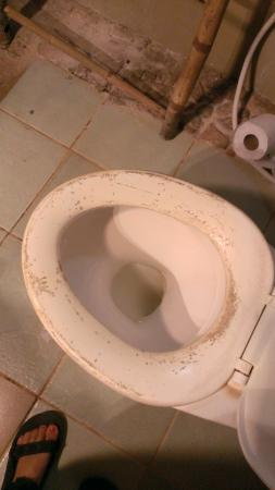 Le Bout du Monde - Khmer Lodge: dirty toilet