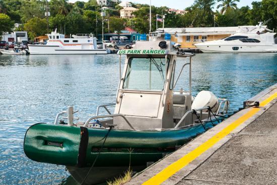 Cruz Bay Visitor Center: Ranger Boat