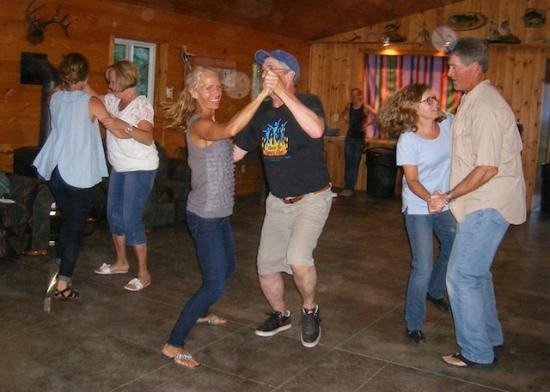 White Eagle Resort on Lake Vermilion: Lantrys and guest dancing at the weekly Barn Dance