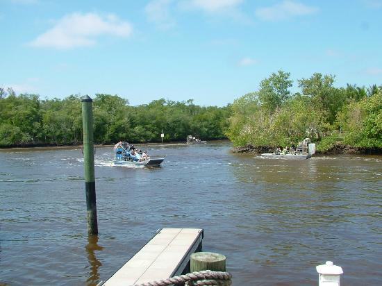 Everglades Isle RV Resort: Airboats all day that sound like prop airplanes
