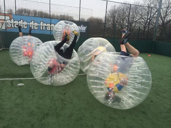 Having A Bubble Football