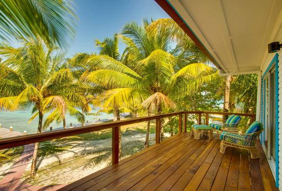 Hatchet Caye Resort: View from one of our new Main House rooms at Hatchet Caye Belize