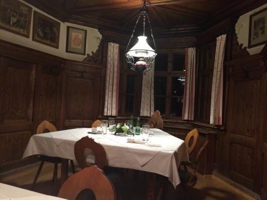 Hotel Gasthof Esterhammer: Härlig rustik matsal