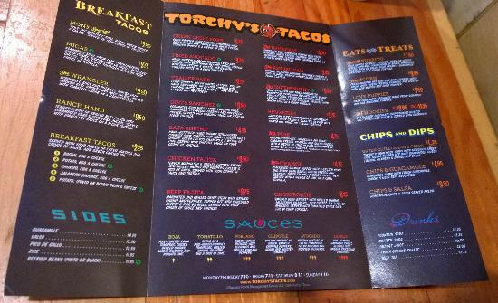 torchy s togo menu picture of torchy s tacos houston tripadvisor