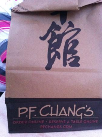 P.F. Chang's: their doggy bag...nicely done