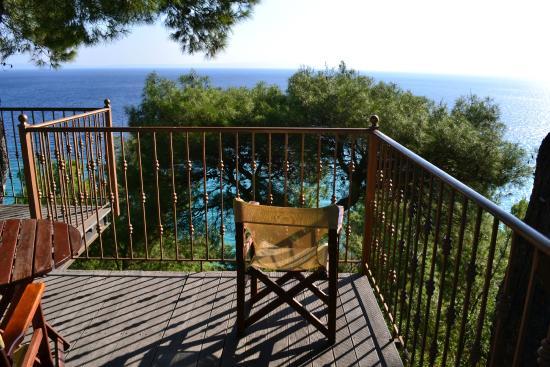 Evripidis Hotel : Терраса с видом