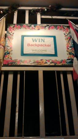 Win Backpacker Hostel: Win hostel entrance