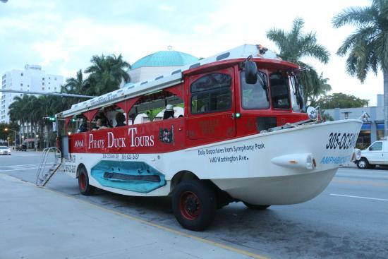 Miami Pirate Duck Tours Bus O Barco