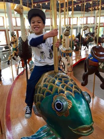 Coolidge Park: He loves carousels!