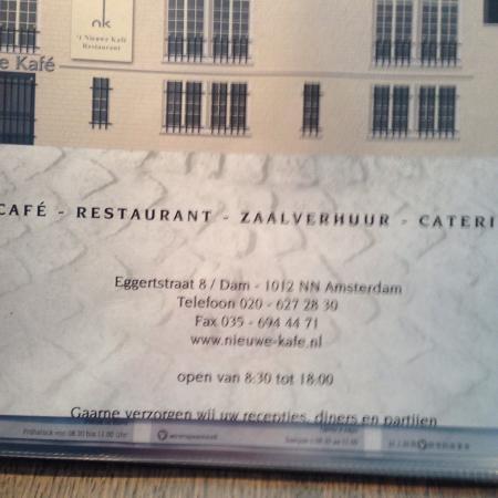Menu picture of t nieuwe kafe amsterdam tripadvisor t nieuwe kafe menu publicscrutiny Image collections
