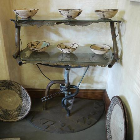 Furniture Design Zimbabwe artist danisile ncube with his display furniture designs in the