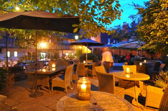 The Feathers Hotel: Our Wonderful Garden is the Ideal Spot on a Warm Summer Evening