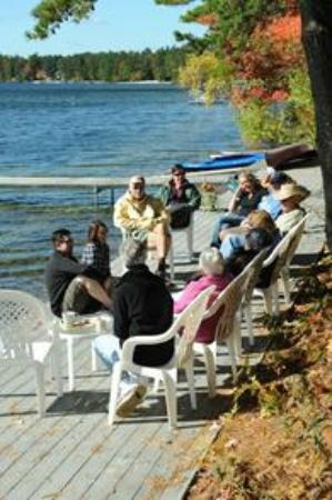 Lake Forest RV Resort: Open deck for campers' use, chairs provided to sit and enjoy