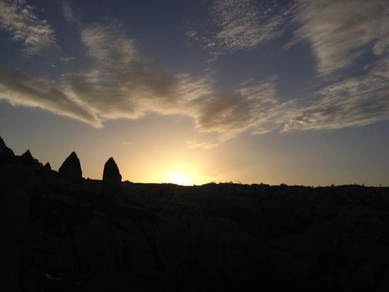 Fairy Chimney Inn: View from one of the spots in the hotel compound. The sunrise and sunset are highlights from the