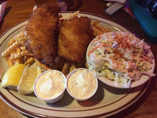 Sportsman Pub and Grub: Fresh dory caught fish with fries and coleslaw. Was special of the day so had to try and SO glad
