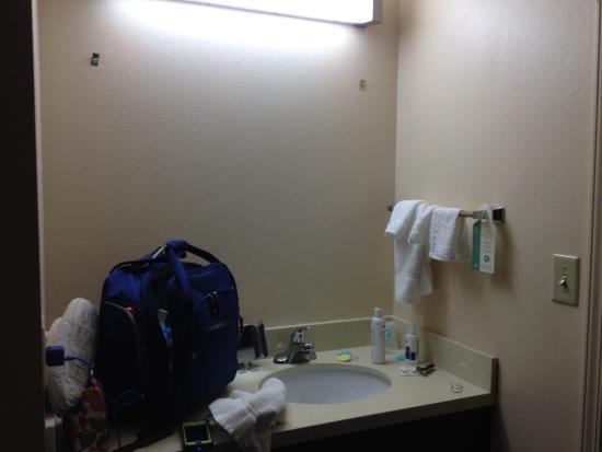 Staybridge Suites : Queen bedroom bathroom (note no mirror I sure it is installed now ;)