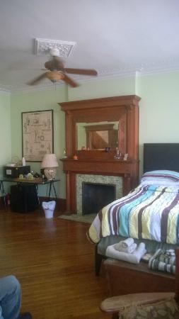 The Sofia Inn: Non-working Fireplace