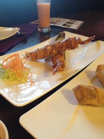 Bangkok Thai Cuisine: Coconut Shrimp and Spring Rolls